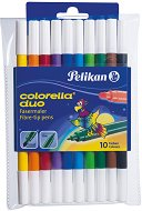 Двувърхи флумастери - Colorella Duo - Комплект от 10 цвята