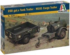 250-галонова цистерна и товарно ремарке - M101 - Сглобяем модел -