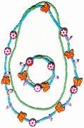 Детско герданче и гривна - Пеперуди и цветя -