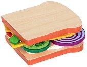 Направи сандвич - Детски комплект за игра от дърво и филц - играчка