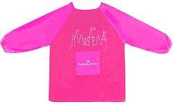 Розова детска престилка за рисуване - Замък
