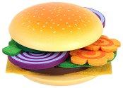 Направи хамбургер - Детски комплект за игра от дърво и филц - играчка