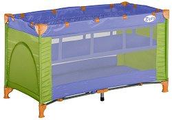 Сгъваемо бебешко легло на две нива - Zippy 2 Layers: Violet & Green - продукт
