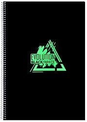 Ученическа тетрадка със спирала - Evolution : Формат А4 с широки редове - 1 или 4 броя -
