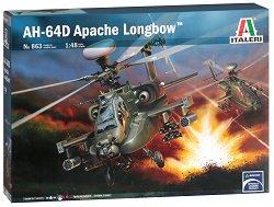 Военен хеликоптер - AH-64D Apache Longbow - Сглобяем авиомодел - макет