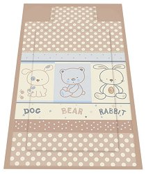 Спален комплект за бебешко креватче - Friends: Beige - 3 части -