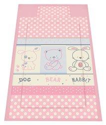 Спален комплект за бебешко креватче - Friends: Pink - 3 части -