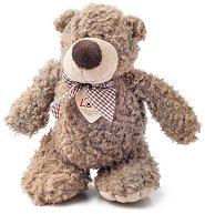 Мечето Денис с панделка - Плюшена играчка -