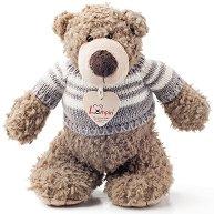 Мечето Денис с пуловер - Плюшена играчка -