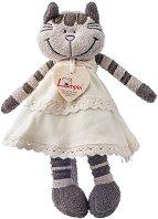 Котето Анжелик с рокля - Плюшена играчка - раница