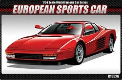 Европейски спортен автомобил - Ferrari Testarossa - Сглобяем модел -