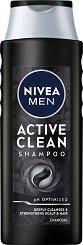 Nivea Men Care Shampoo Active Clean - Шампоан за мъже с активен въглен - продукт