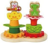 Пчела и жаба - Дървена играчка за нанизване -