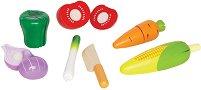 Зеленчуци - Комплект дървени фигури - играчка