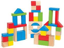 Строител - Детски дървени блокчета - играчка