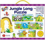 Джунгла - Дълъг детски пъзел с животни и звук - пъзел