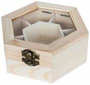 Дървена кутия със 7 разделения - Предмет за декориране
