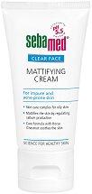 "Sebamed Clear Face Mattifying Cream - Матиращ крем за лице от серията ""Clear Face"" - гел"