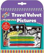 Оцвети сам по време на път - Картини от кадифе - Творчески комплект - играчка