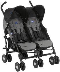 Лятна бебешка количка за близнаци - Echo Twin - С 6 колела -