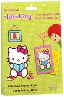 Оцветявай с цветен пясък - Hello Kitty - Творчески комплект за рисуване -