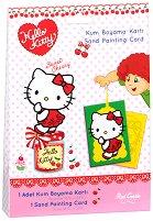 Оцветявай с цветен пясък - Hello Kitty - Творчески комплект за рисуване - несесер