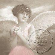 Салфетки за декупаж - Ангел - Пакет от 20 броя