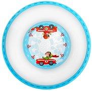 """Детска меламинова купичка за хранене - От серията """"Бързи коли"""" за бебета над 6 месеца -"""