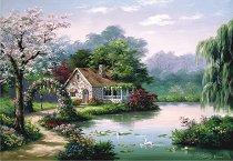 Къщичка в гората - Сунг Ким (Sung Kim) - пъзел