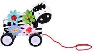 Зебра - Детска дървена играчка за дърпане с аксесоари -