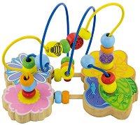 Лабиринт - Цвете - Детска дървена играчка -