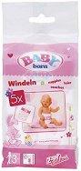 """Пелени за кукла - Комплект от 5 броя аксесоари от серията """"Baby Born"""" - играчка"""