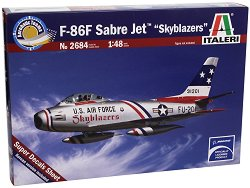 Военен самолет за демонстрации - F-86F Sabre Jet Skyblazers - Сглобяем авиомодел -