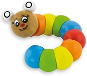 Гъсеница - Детска дървена играчка с извиващи се елементи - играчка