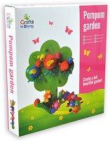 Направи си сама - Цветна градина от помпони - Творчески комплект - играчка