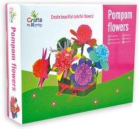 Направи си сама - Цветя от помпони - Творчески комплект - играчка