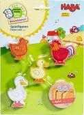"""Птици от фермата - Дървени фигури от серията """"My first game world farm"""" -"""