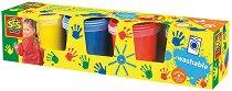 Бои за рисуване с пръсти - Комплект от 4 цвята