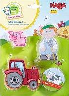 """Фермерът Тим и неговия трактор - Дървени фигури от серията """"My first game world farm"""" -"""