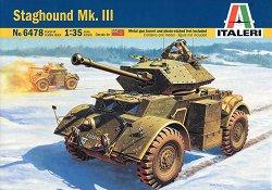 Брониран автомобил - Staghound Mk. III - Сглобяем модел -