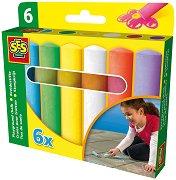 Цветни тебешири - Комплект от 6 броя