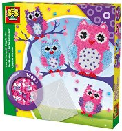 Мозайка с мъниста - Бухали - Творчески комплект - играчка