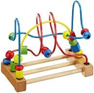 Дървена спирала лабиринт - играчка