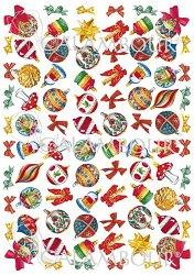 """Декупажна хартия - Коледни играчки 040 - От серията """"Digital Collection Mulberry"""""""
