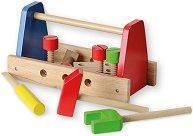 Детска кутия с инструменти - Дървена играчка -