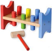 Чукче и наковалня - Дървена образователна играчка - несесер