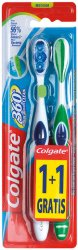 Colgate 360° Whole Mouth Clean - Medium - Четка за зъби 1 + 1 подарък -