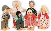 Семейство дървени кукли - Комплект от 6 броя -