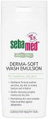 """Sebamed Anti-Dry Derma-Soft Wash Emulsion - Почистваща емулсия за лице и тяло за суха кожа от серията """"Anti-Dry"""" - боя"""