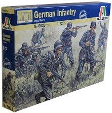 Немски пехотинци от Втората световна война - Комплект фигури - макет